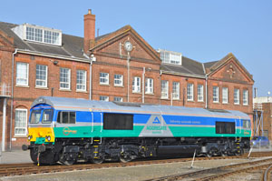 66711 poses in the sunshine in GBRf's version of Aggregate Industries Livery